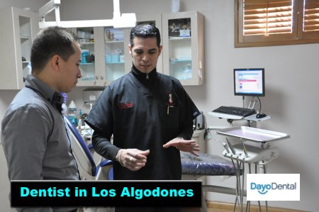 Dentist in Los Algodones, Mexico explaining a treatment plan