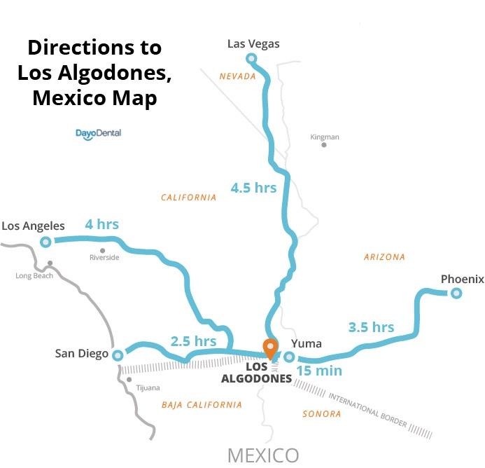 Directions to Los Algodones Mexico - Molar City directions - Where is Molar City Mexico?
