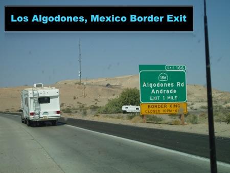 Los Algodones Border Exit