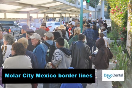 Border lines in Molar City Mexico, how long
