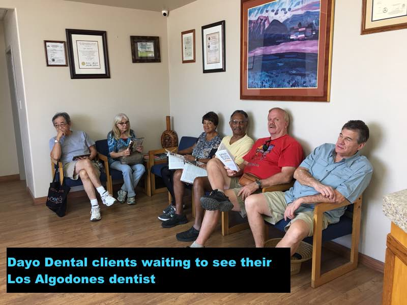Dayo Dental patients waiting to see their Los Algodones dentist